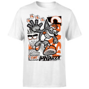Crash Bandicoot High Four Men's T-Shirt - White
