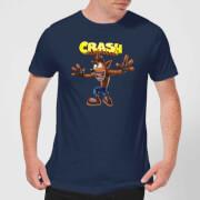 Crash Bandicoot Crazy Men's T-Shirt - Navy