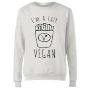 Lazy Vegan Womens Sweatshirt - White - XXL - White