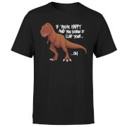 If You're Happy And You Know It Men's T-Shirt - Black