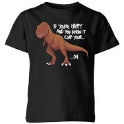 If You're Happy And You Know It Kids' T-Shirt - Black