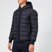 Herno Men's Hooded Down Short Jacket - Navy - IT 48/S - Navy