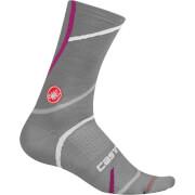 Castelli Women's Sinergia 18 Socks - L-XL - Melange Grey