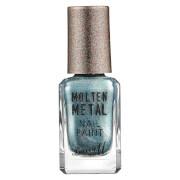 Купить Barry M Cosmetics Molten Metal Nail Paint (Various Shades) - Blue Glacier
