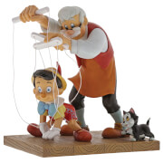 Enchanting Disney Little Wooden Head Pinocchio Figurine