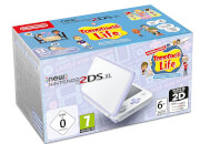 New Nintendo 2DS XL White and Lavender + Animal Crossing New Leaf: Welcome amiibo