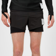 "Satisfy Men's Long Distance 3"" Shorts - Black Silk"