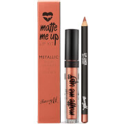 Купить Barry M Cosmetics Matte Me Up Metallic Lip Kit (Various Shades) - 24 Carat