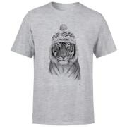 Winter Tiger Men's T-Shirt - Grey