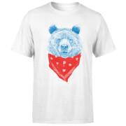 Bandana Panda Men's T-Shirt - White