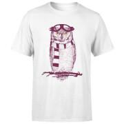 Winter Owl Men's T-Shirt - White