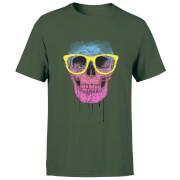 Skull And Glasses Men's T-Shirt - Forest Green