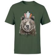 Native Bear Men's T-Shirt - Forest Green