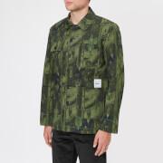 Maison Kitsuné Men's Dream Amplifier Worker Jacket - Khaki Print - L - Green