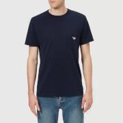 Maison Kitsuné Men's Tricolor Fox Patch T-Shirt - Navy