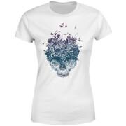 Skulls And Flowers Women's T-Shirt - White