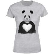 Panda Love Women's T-Shirt - Grey