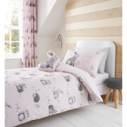 Catherine Lansfield Woodland Friends Duvet Set - Pink