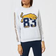 Superdry Women's Emilie Applique Crew Neck Sweatshirt - Ice Marl