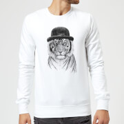 Balazs Solti Tiger In A Hat Sweatshirt - White - 3XL - Blanco