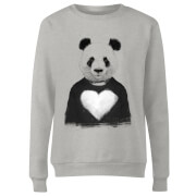 Panda Love Women's Sweatshirt - Grey