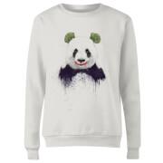 Joker Panda Women's Sweatshirt - White