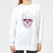 Skull Womens Sweatshirt - White - XS - White