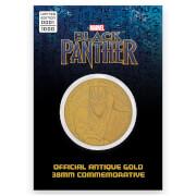 Moneda de Colección Marvel Black Panther - Edición Limitada Dorada Vintage (Exclusiva de Zavvi)
