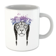 Lion And Flowers Mug