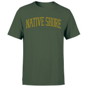 Native Shore Varsity Curved Men's T-Shirt - Forest Green