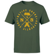 Native Shore Authentic Surf Circle Men's T-Shirt - Forest Green