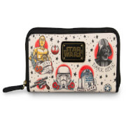 Loungefly Star Wars Tattoo Flash Print Faux Leather Wallet