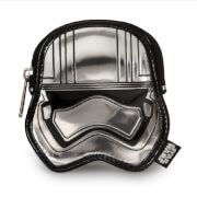 Loungefly Star Wars Captain Phasma Silver Metallic Embossed Coin Bag