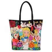 Loungefly Disney Alice in Wonderland Characters AOP Tote Bag