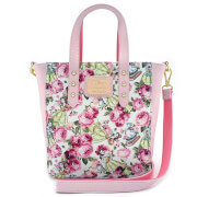 Loungefly Disney Beauty and the Beast Character Floral AOP Tote Bag