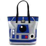 Loungefly Star Wars R2-D2 and BB-8 2 Sided Big Face Tote Bag