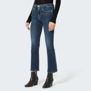 Frame Denim Women's Le Crop Mini Bootcut Jeans - Kinlock - W26 - Black