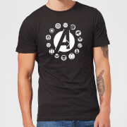 Avengers Team Logo Men's T-Shirt - Black