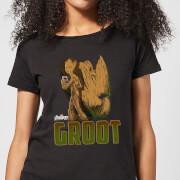 Avengers Groot Damen T-Shirt - Schwarz