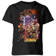 Avengers Team Portrait Kids' T-Shirt - Black