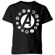 Avengers Team Logo Kids' T-Shirt - Black