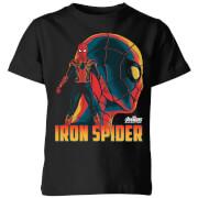 T-Shirt Enfant Iron Spider Avengers - Noir