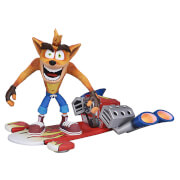 "NECA Crash Bandicoot- 7"" Action Figure - Deluxe Hoverboard Crash"
