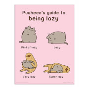 Pusheen (Guide to Being Lazy) Framed 30 x 40cm Print