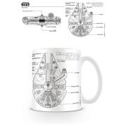 Star Wars (Millennium Falcon Sketch) Coffee Mug