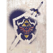 The Legend Of Zelda (Hylian Shield Stencil) Canvas Print