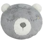 Image of Albetta Decorative Bear Cushion - Grey