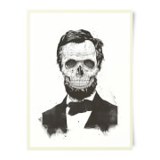 Suited And Booted Skull Art Print