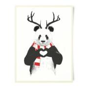 Winter Panda Art Print