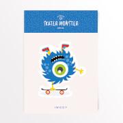 Skater Monster Skateboard Vinyl Decal